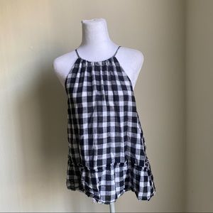 Anthropologie gingham top